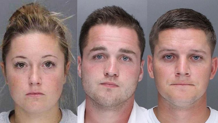Philadelphia Police Department photos of (from left) Kathryn Knott, Philip R. Williams, left, and Kevin J. Harrigan are shown. (Philadelphia Police Department via AP, File)