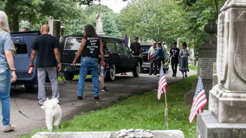 The ninth annual Hearse and Professional Vehicle Show returned to Laurel Hill Cemetery Saturday showcasing classic hearses, limousines and ambulances. (Brad Larrison for NewsWorks)