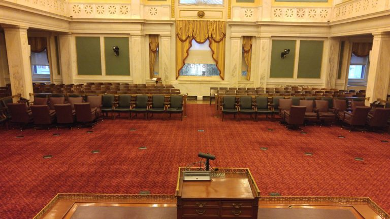 Philadelphia City Council chambers (Tom MacDonald/WHYY).