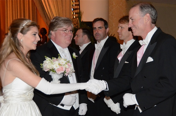 <p>&lt;p&gt;Debutante Courtney Jennifer McCauley is presented by her father, Sean N. McCauley to members of the Board of Directors. Directors (from left): R. Carter Caldwell, Gary A. Cox, Warren I. Claytor and John P. Devine (Photo courtesy of Sabina Louise Pierce)&lt;/p&gt;</p>