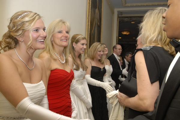 <p>&lt;p&gt;Debutante Lacey Deaver Swift-Farley (left), her mother Nina E. Swift, debutantes Courtney Jennifer and Laura Katerina McCauley and their mother Colleen Holt-McCauley and Peter F. Cooke, greet guests in the receiving line. (Photo courtesy of Sabina Louise Pierce)&lt;/p&gt;</p>