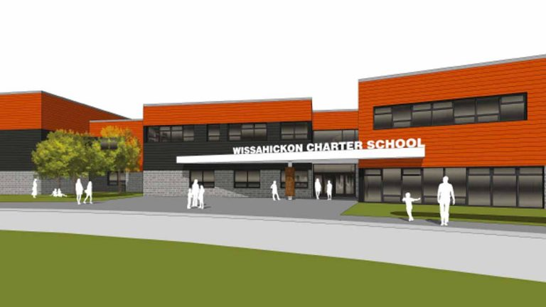 A rendering of the new Wissahickon Charter School in Germantown. (Courtesy of Wissahickon Charter School)
