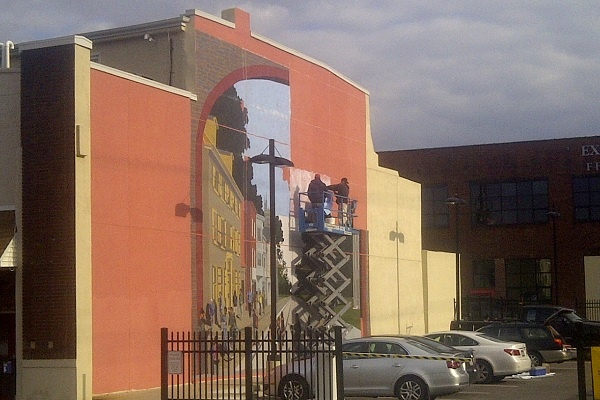 <p>&lt;p&gt;The Gateway to Germantown mural on W. Chelten Ave. has been in the works for nearly a year. (Brian Hickey/WHYY)&lt;/p&gt;</p>