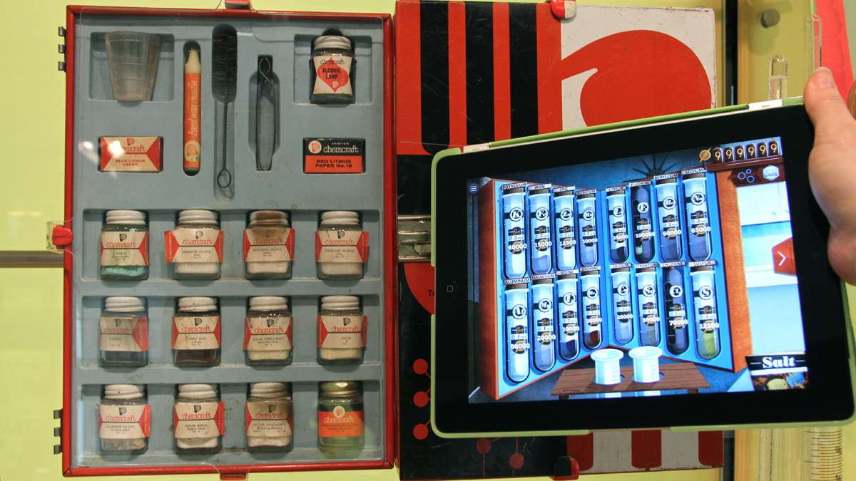 ChemCrafter users can unpack chemicals similar to those used in vintage sets popular in the 1940s and '50s.
