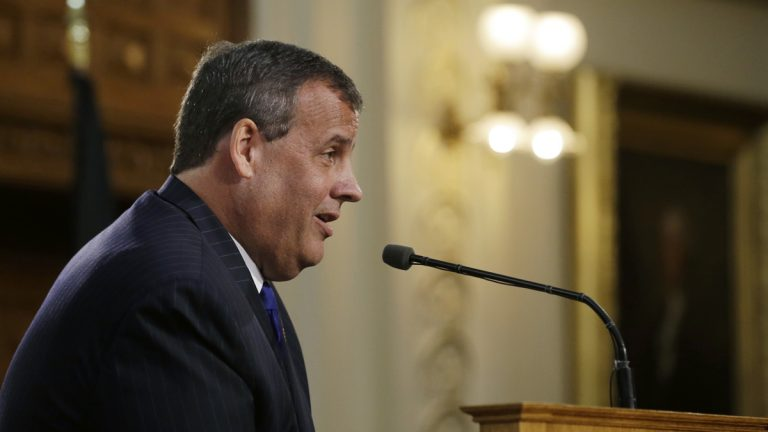 New Jersey Gov. Chris Christie says he will be back next year, as he refers to his presidential aspirations, while he delivers his State Of The  State address in the State House Tuesday, Jan. 13, 2015, in Trenton, N.J. (AP Photo/Mel Evans)
