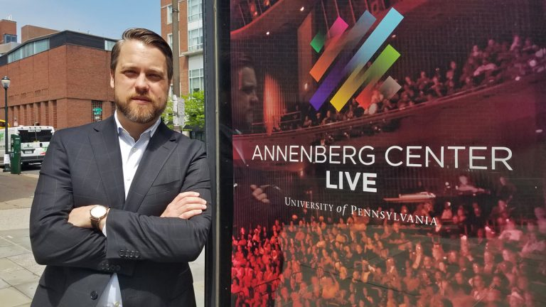 Christopher Gruits is the new executive and artistic director of the Annenberg Center. (Peter Crimmins/WHYY)