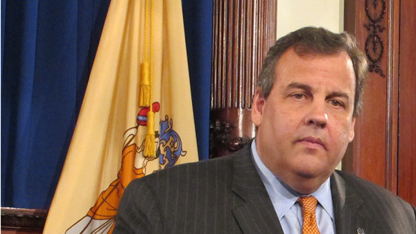 N.J. Gov. Chris Christie announced Thursday the appointment of Attorney General Jeff Chiesa to temporarily fill the Senate seat left vacant by Frank Lautenberg. (Phil Gregory/for NewsWorks)