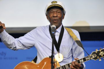 This Feb. 26, 2012 file photo, musician Chuck Berry plays