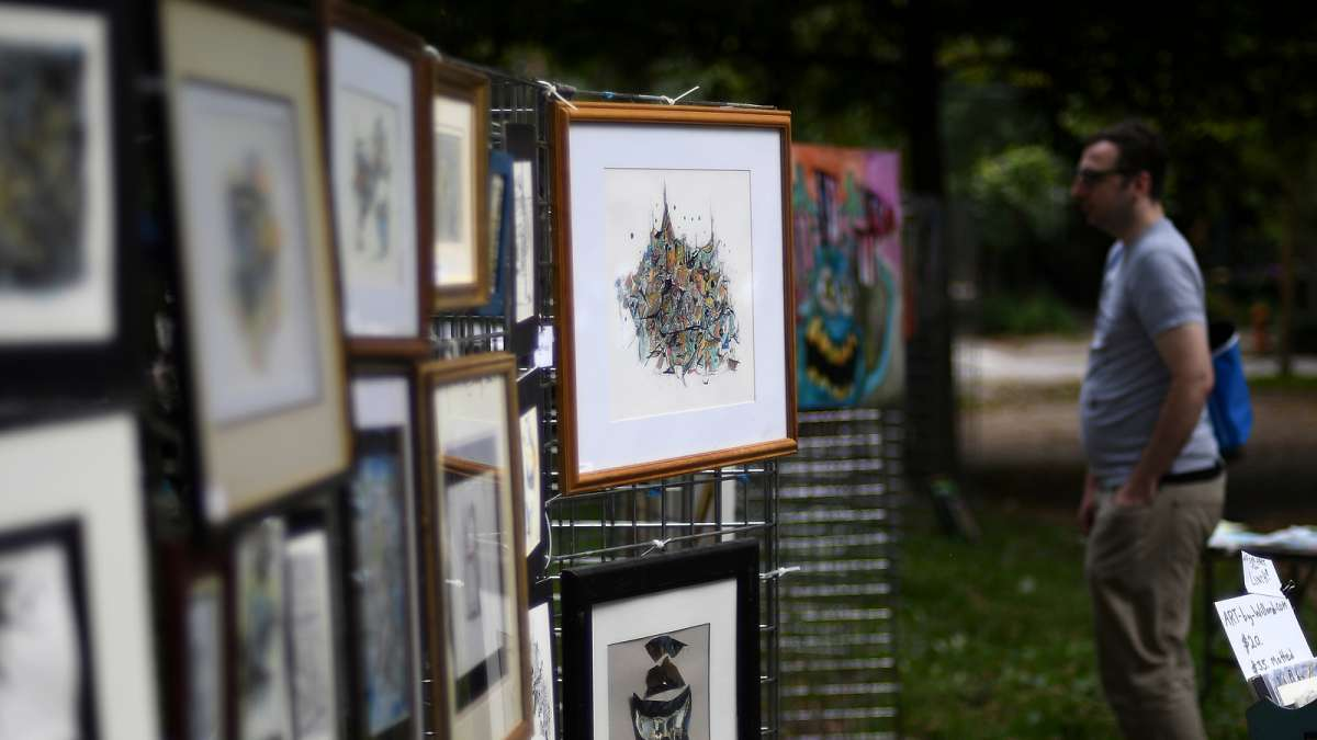 Arts, crafts and food vendors line the paths and provide a variety flavors for everyone to choose from during the annual Clark Park Festival