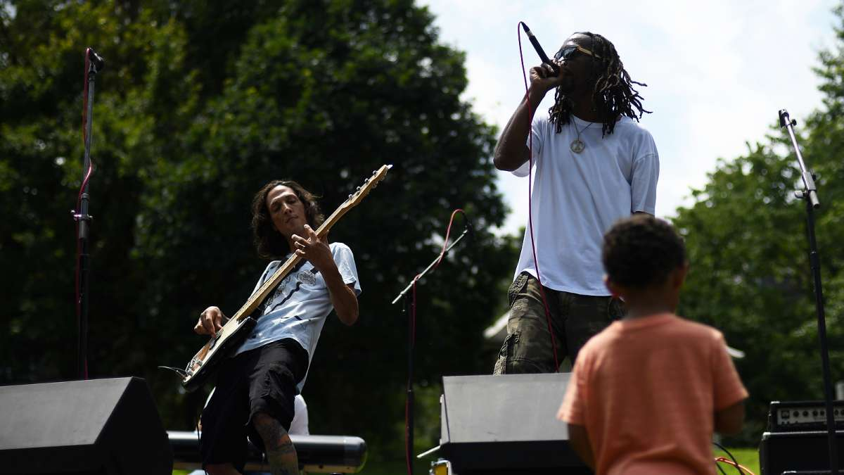 The Momentum is one of the acts performing on stage during the annual Clark Park Festival