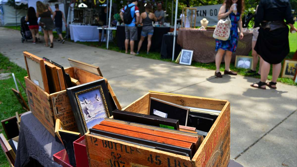 Arts, crafts and food vendors line the paths and provide a variety flavors for everyone to choose from during the annual Clark Park Festival in West Philadelphia