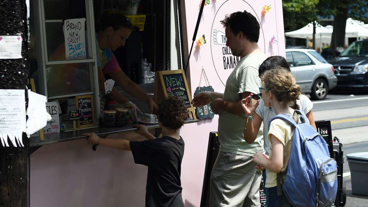 Arts, crafts and food vendors line the paths and provide a variety flavors for everyone to choose from during the annual Clark Park Festival in West Philadelphi