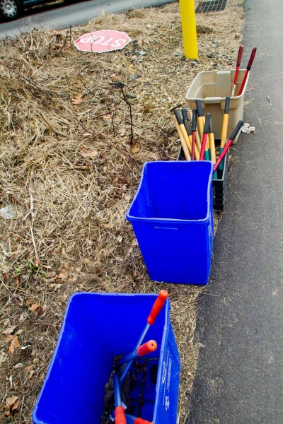 <p>&lt;p&gt;Tools at rest Monday during Ivy Ridge Green's Martin Luther King Day Cleanup. (Brad Larrison/For NewsWorks)&lt;/p&gt;</p>