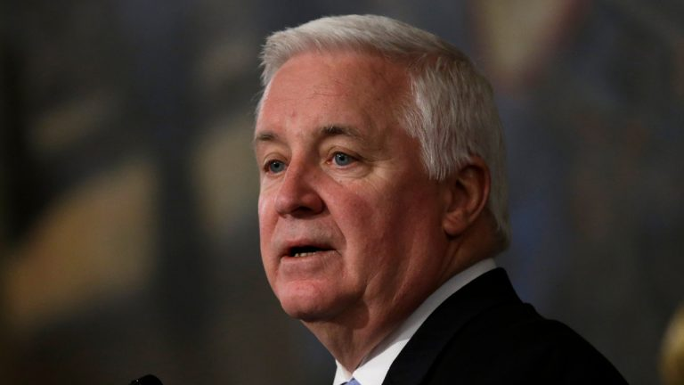 Gov. Tom Corbett delivers his budget proposal for the fiscal year 2013-2014. (AP Photo/Matt Rourke)