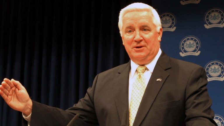Gov. Tom Corbett hasn't been able to push his priorities through even though the legislature is controlled by fellow Republicans. (AP Photo, file)