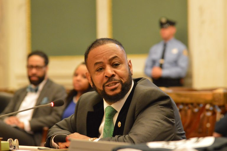 Councilman Curtis Jones wants to collect and share more information on collisions in Philadelphia to improve safety. (Tom MacDonald/WHYY)