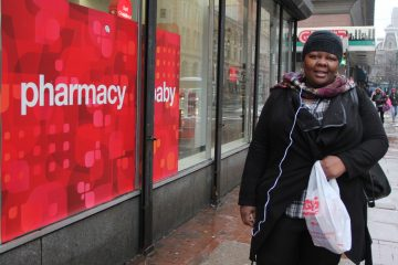 Shamika Lewis says it's a good thing that CVS will stop selling cigarettes, but it won't change her shopping habits. (Emma Lee/for NewsWorks)