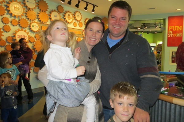 <p><p>One of dozens of families celebrating 2013 at Delaware Children's Museum (Shirley Min/WHYY)</p></p>