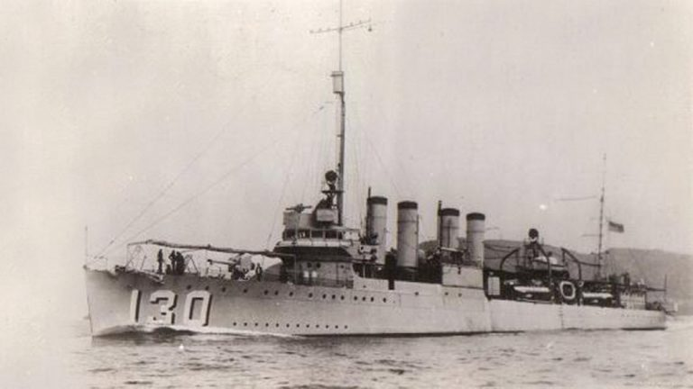 The USS Jacob Jones, sunk by German torpedo off the coast of Cape May, February 28, 1942. (Mid-Atlantic Center for the Arts & Humanities)