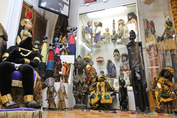 <p><p>One section of the museum's main room houses many dolls from different cultures in Africa. (Kimberly Paynter/for NewsWorks)</p></p>