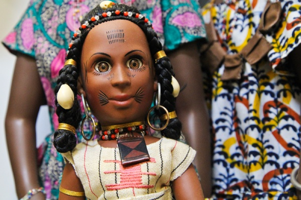 <p><p>Tribal Doll Inc. created this West African Fulani wedding doll, which is paired with an educational video. (Kimberly Paynter/for NewsWorks)</p></p>