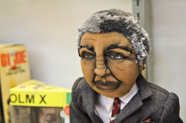 <p><p>This cloth Nelson Mandela doll resides in a display case with other celebrity dolls and dolls of the Civil Rights movement. (Kimberly Paynter/for NewsWorks)</p></p>