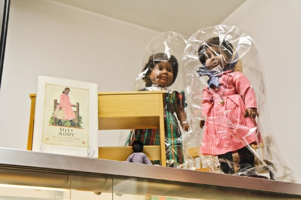 "<p><p>""Addy"" is part of the American Girl series of dolls. Whiteman uses her story of escaping slavery to Philadelphia to teach visitors about the city. (Kimberly Paynter/for NewsWorks)</p></p>"