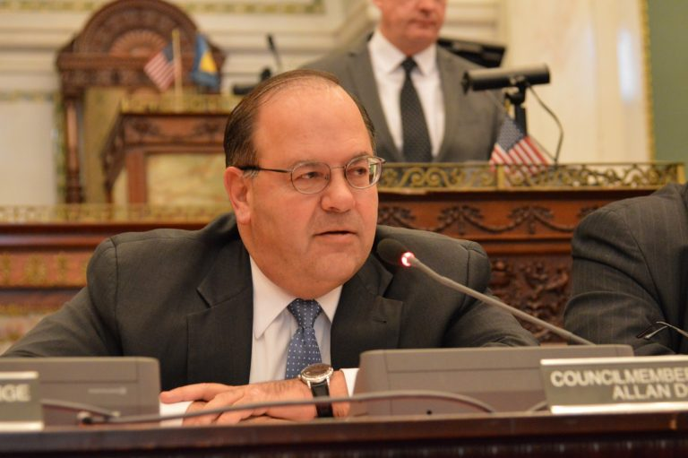 Philadelphia Councilman Alan Domb recommends that Philadelphia improve properties before selling them to make a higher profit. (Tom MacDonald/WHYY)