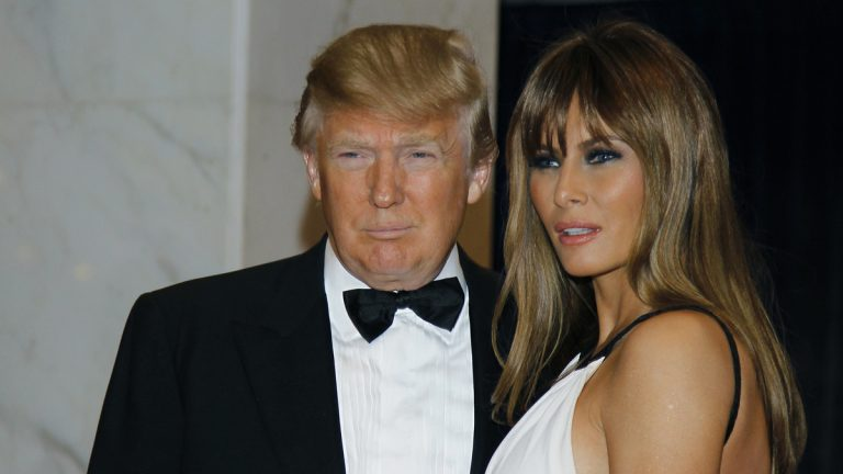 In this April 30, 2011, file photo Donald Trump, left, and Melania Trump arrive for the White House Correspondents Dinner in Washington. (AP Photo/Alex Brandon, File)