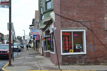 Many of Hazleton's empty storefronts have been filled by Latino-owned businesses. (Eleanor Klibanoff/WPSU)