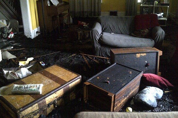 <p><p>This was the Folk's living room. (Brian Hickey/WHYY)</p></p>