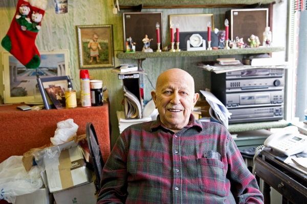 Frank Mattio of Frank's TV Repair opened up his shop on East Passyunk in 1947. Mattio says the repair business has been tough.  People think,