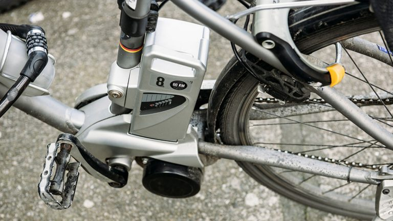 Electric bikes have small motors powered by batteries. (Big Stock photo)