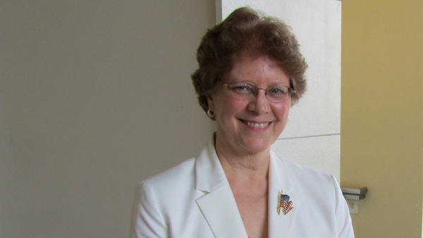 Dr. Alieta Eck, the Tea Party-embraced Republican candidate for the New Jersey Senate seat left vacant by Frank Lautenberg. (Kevin McCorry/WHYY)