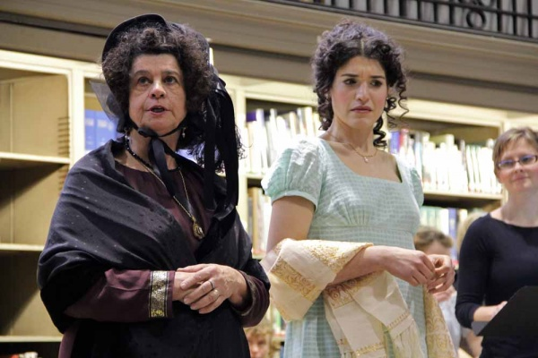<p>&lt;p&gt;Elizabeth (Julia Wise) reacts to the remarks of the imperious Lady Catherine DeBourgh (Helga Krauss). (Emma Lee/for NewsWorks)&lt;/p&gt;</p>
