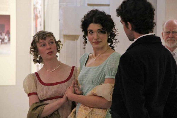 <p>&lt;p&gt;Jane (Laura Seeley) and Elizabeth (Julia Wise) react to the unwanted attention of Mr. Collins (Brian Weiser) during a pop-up performace at the Free Public Library. (Emma Lee/for NewsWorks)&lt;/p&gt;</p>
