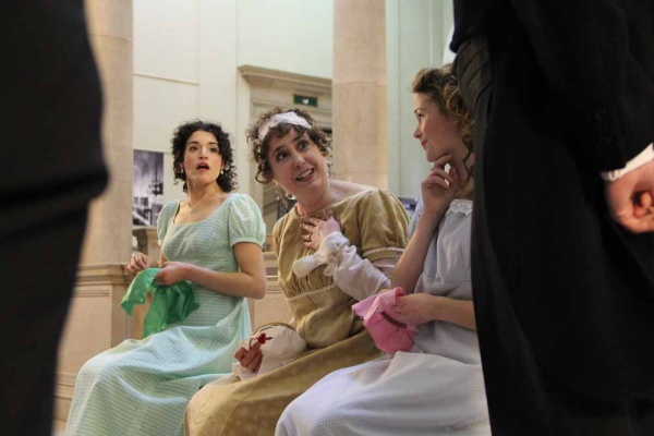<p>&lt;p&gt;Mrs. Bennet, portrayed by Jane Jennings performs a scene from &quot;Pride and Prejudice&quot; at the Free Public Library. (Emma Lee/for NewsWorks)&lt;/p&gt;</p>