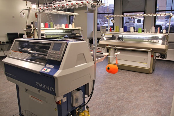 <p><p>The Shima Seiki knitting machines at Drexel's ExCITe Center can complete a garment in about 30 minutes. The machines can also produce medical devices and automotive parts and researchers are exploring ways to knit robots. (Emma Lee/for NewsWorks)</p></p>