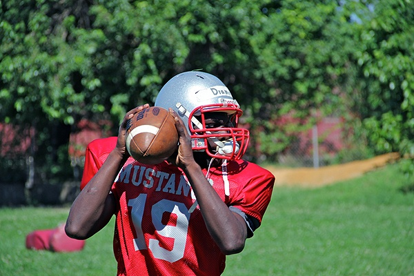 Football could lead to a college education for Mustangs quarterback Diamir Copes.