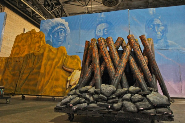 <p>The Avenuers Brigade has been working since September to develop their 2013 theme, American Indian. (Kimbelry Paynter/WHYY)</p>