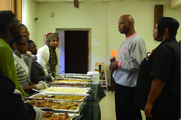 <p><p>State Rep. Stephen Kinsey, a lifelong Germantown resident, thanks the students at Imhotep Institute Charter School Culinary Program. (Kiera Smalls)</p></p>