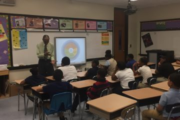 Harold Pritchett teaches his class in social and emotional learning at Warner Elementary School. Warner is one of six high-poverty schools in Wilmington that are struggling to improve after being targeted for possible closure in 2014 by then-Gov. Jack Markell. (Cris Barrish/WHYY)