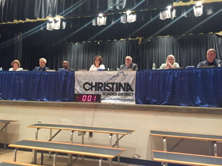 Christina School District, the largest in Delaware, had 1.1 percent and 1.2 percent turnout, respectively, for its two contested school board races Tuesday. (Cris Barrish/WHYY)