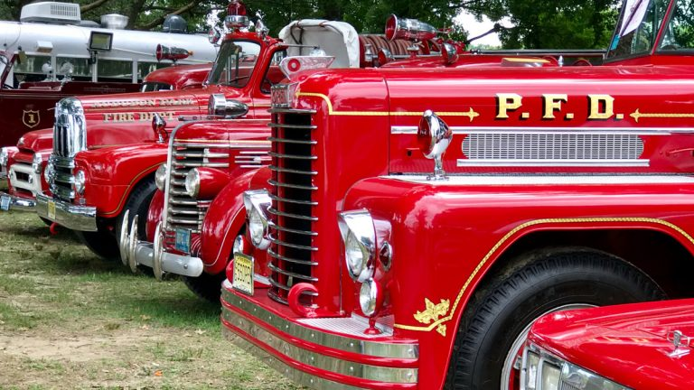 More than 80 vintage fire trucks will be on display at WheatonArts this Sunday. (Jana Shea/ for Newsworks, file)