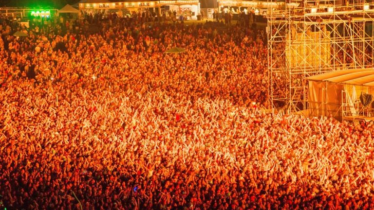 Saturday night's crowd during Tom Petty's performance. (Photo courtesy Firefly Music Festival)