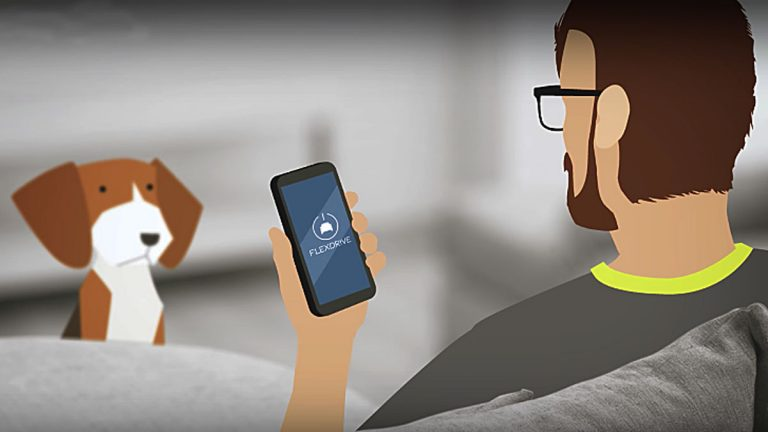 The new Flexdrive app allows people to rent cars on a weekly or monthly basis. (Image from Flexdrive promotional video)