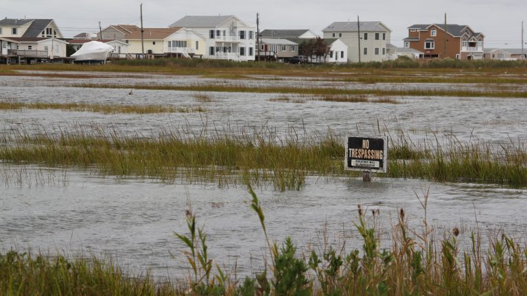 Environmentalists and some N.J. lawmakers oppose rule changes proposed by the Department of Environmental Protection that would make it easier to build in flood-prone areas. (NewsWorks file photo)