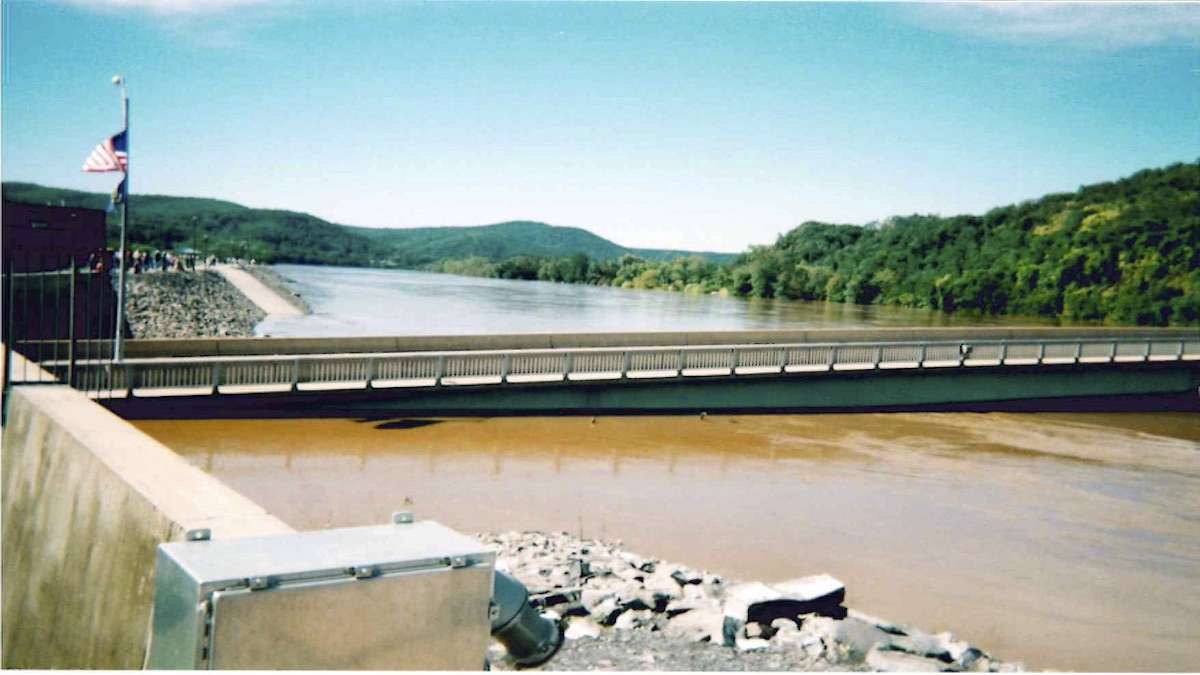 After Hurricane Ivan in 2004, the floodwaters came within six feet of the top of the levee. (Rich Marcinkevage, City of Lock Haven)