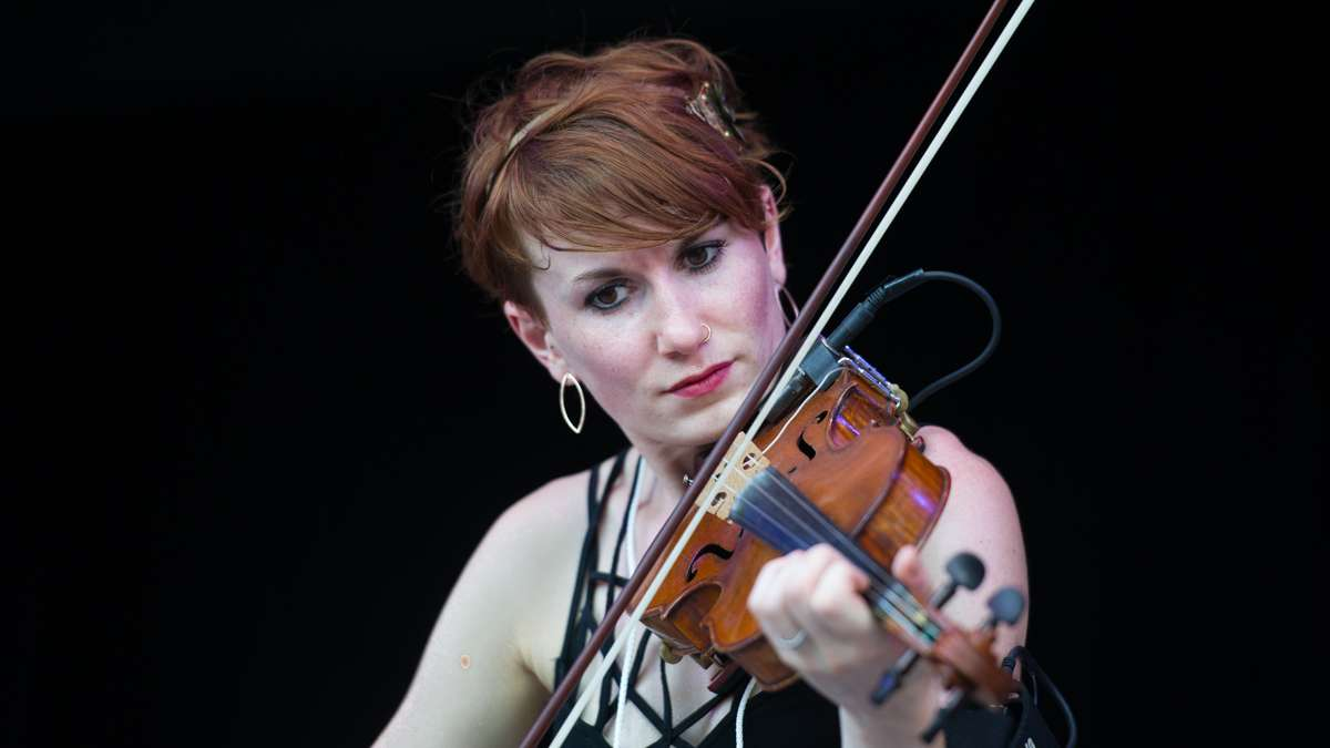 Fiddle player Rose Baldino plays with Burning Bridget Cleary.