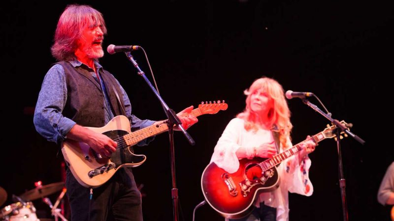 Larry Campbell and Teresa Williams perform during the Saturday evening concert. (Jonathan Wilson for NewsWorks)
